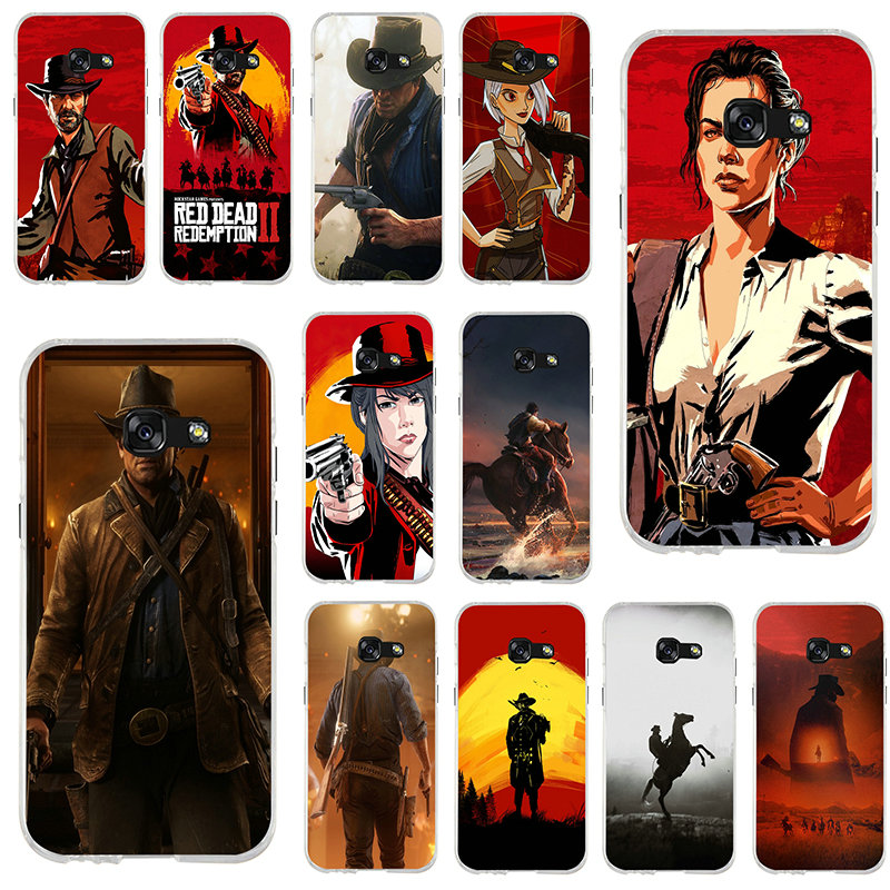 <font><b>Reds</b></font> Dead Redemption 2 For <font><b>Samsung</b></font> Galaxy J3 J4 J5 J6 J7 J8 A3 <font><b>A5</b></font> A7 2016 <font><b>2017</b></font> 2018 Shell Soft <font><b>Silicone</b></font> Phone <font><b>Cases</b></font> image