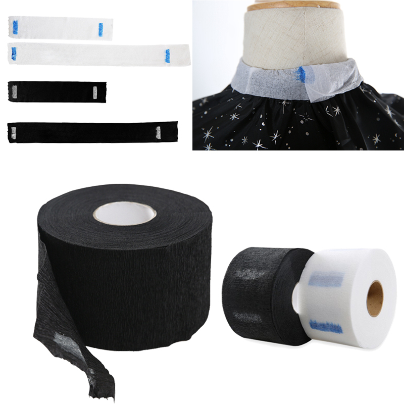 1 Roll Haircut Necks Disposable Hairdressing Collar Accessory Haircut Cape Covering Neck Paper Roll Cutting Wrap Apron Cover