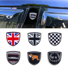Estilo do carro De Metal Emblema Emblema Autocolante Decalques Decorativos Para Mini Cooper JCW Clubman Countryman One F55 R60 F60 Acessórios Do Carro