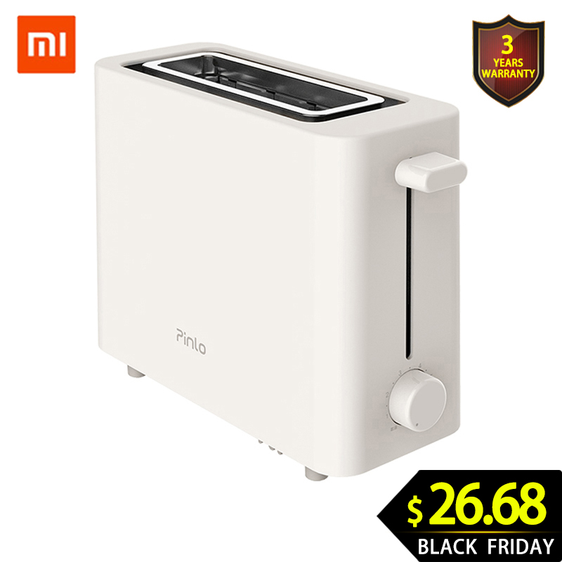 XIAOMI MIJIA Pinlo Mini Toaster PL-T050W1H Toasters Oven Baking Kitchen Appliances Breakfast Bread Sandwich Maker Fast Safety