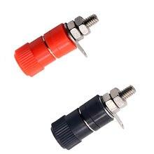 Prise banane de 4mm, poteau de liaison plaqué Nickel, 1 pièce, connecteur de prise banane rouge et noir JS-910B