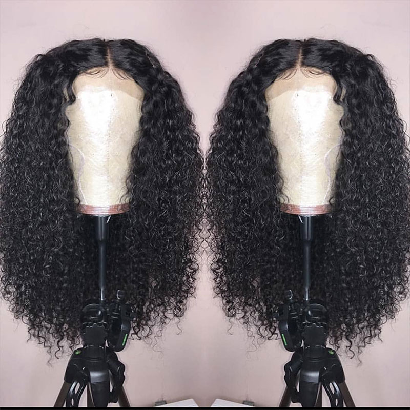 250 Density 13x6 Lace Front Wigs Pre Plucked With Baby Hair Curly Lace Front Human Hair Wigs Fake Scalp Wig Ever Beauty Remy