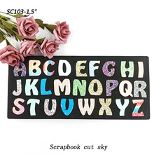 26 capital letters Scrapbook cut sky &  steel wooden dies Compatible with most machines