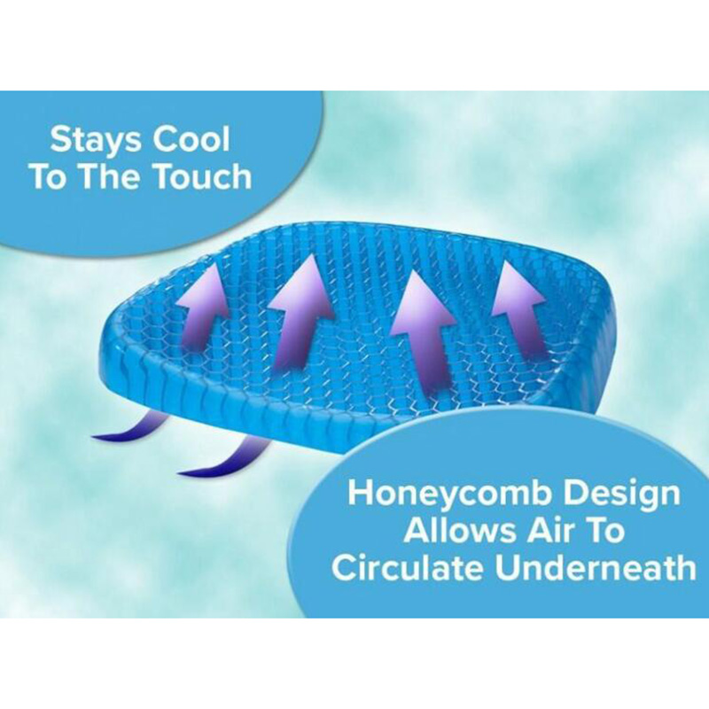 Egg Cushion, Honeycomb Gel, Car Cushion, Chair, Breathable Cushion, Office Ice Mat, Cooling Pad Travel Accessories