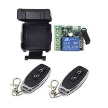 Interruptor de Control remoto inalámbrico para hogar, módulo receptor RF de 433 Mhz DC12V 1CH, transmisor de hogar inteligente Diy