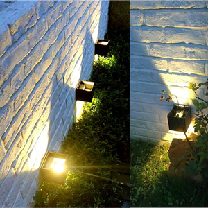 Image 2 - Porch Light 12W Outdoor Lamp Led Wall Lighting Indoor Home Bedroom Bedside Garden Waterproof Ip65 Aluminum Square Black White