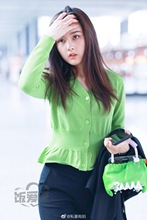 Green V-neck Sweater A Slim Cardigan 2019 with Waist V-Neck Fashion Cardigans Women