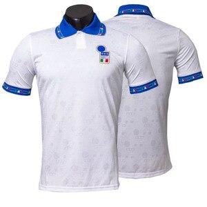 Image 4 - イタリア 1994 レトロロベルトバッジョcamisetaホームアウェイジャージ高品質tシャツtシャツカスタマイズ憂鬱王子