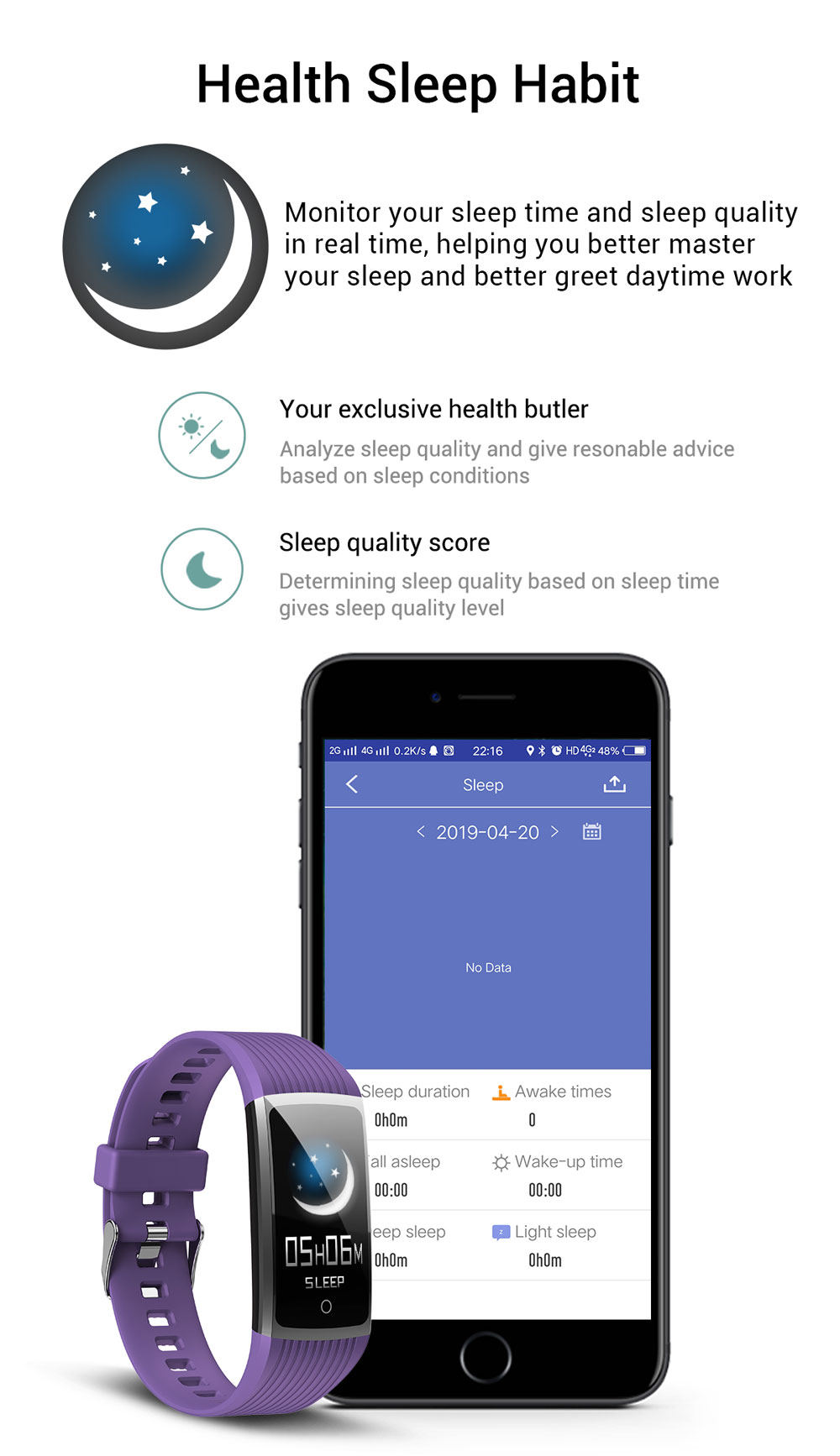 H87189b0a70d94a42a496e660f5b0c8d0C 2020 Fitness Bracelet Blood Pressure Fitness Tracker Waterproof Smart Bracelet Heart Rate Smart Band Watch Wristband Men Women