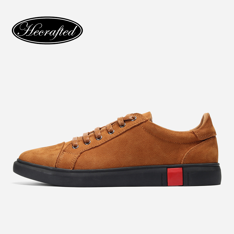 Leather Shoes Men Brown Genuine Leather Luxury Design Casual Fashion Brand Men Sneakers #A1688