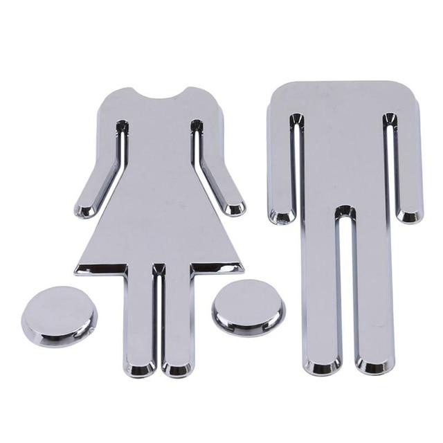 Panneau signe en plastique homme et femme | Signe rapide, pour les toilettes, la toilette, la salle de bain, les toilettes ou les WC