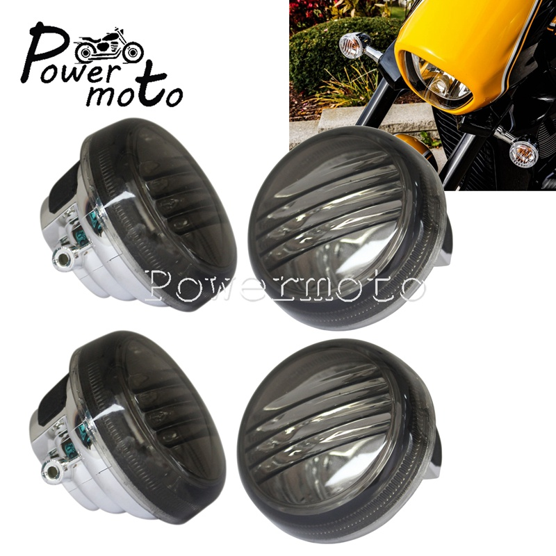 4pcs Motorcycle Clear Turn Signal Light Lens Cover For Suzuki Boulevard M50 C50