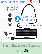 H8718c0faf3804212811ec180cfa08474W 5.5mm Endoscope Camera 1/1.5/2/3.5/5M  2 in 1 Micro USB Mini Camcorders Waterproof 6 LED Borescope Inspection Camera For Android
