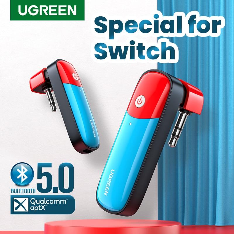 UGREEN Bluetooth 5.0 Transmitter 3.5mm Audio Adapter Design for Nintendo Switch APTX LL Wireless Transmitter