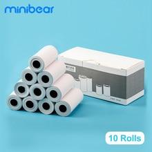 Papel de impressão térmico 57*27mm 6m dos rolos minibear 10