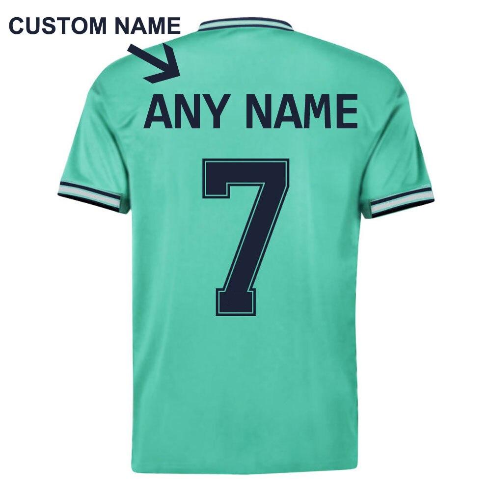 New 2020 Hazard #7 Away 2019 Man Soccer Tee Short Sleeve T-Shirts Green Top Shirt Summer Man Kids Child Tee +Shorts Set S-XXL