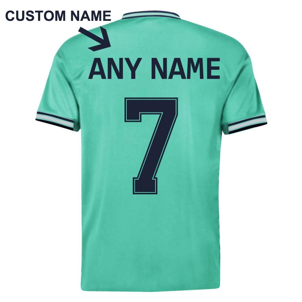New 2020 Hazard #7 Away 2019 Man Soccer Tee Short Sleeve   T  -  Shirts   Green Top   Shirt   Summer Man Kids Child Tee +Shorts Set S-XXL