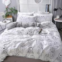 cartoon cat duvet cover pillowcase 3pcs 220x240 200x200 quilt cover blanket cover 135x200 single double king