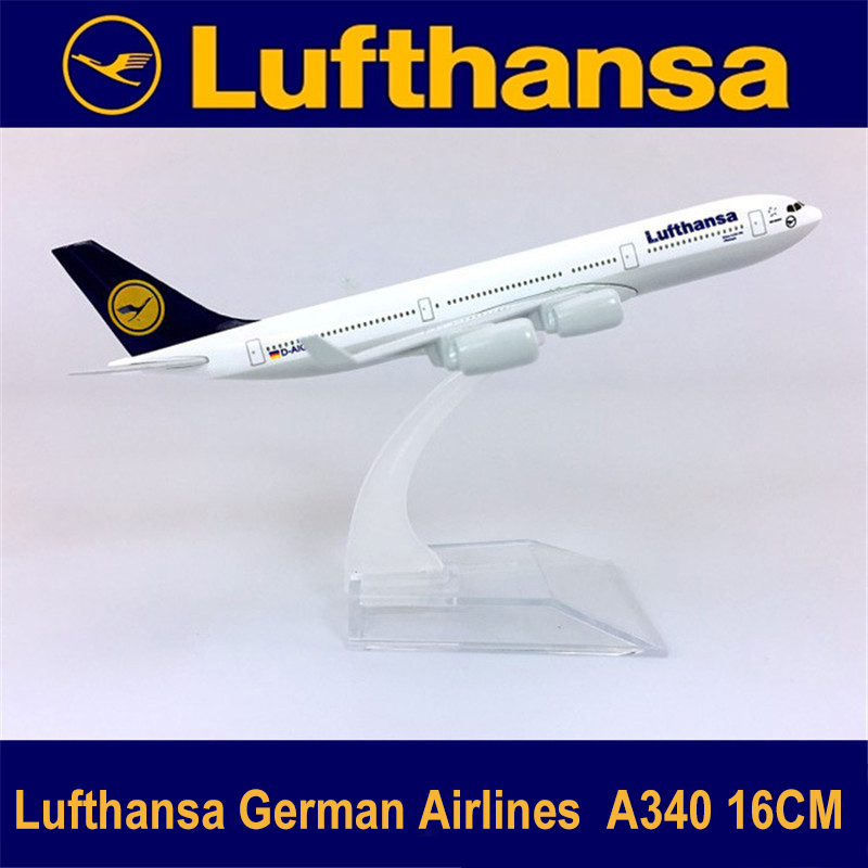 Alloy Metal Air Lufthansa A340 German Airline Airlines Airplane Model  Airways Plane Model Stand Aircraft Kids Gifts