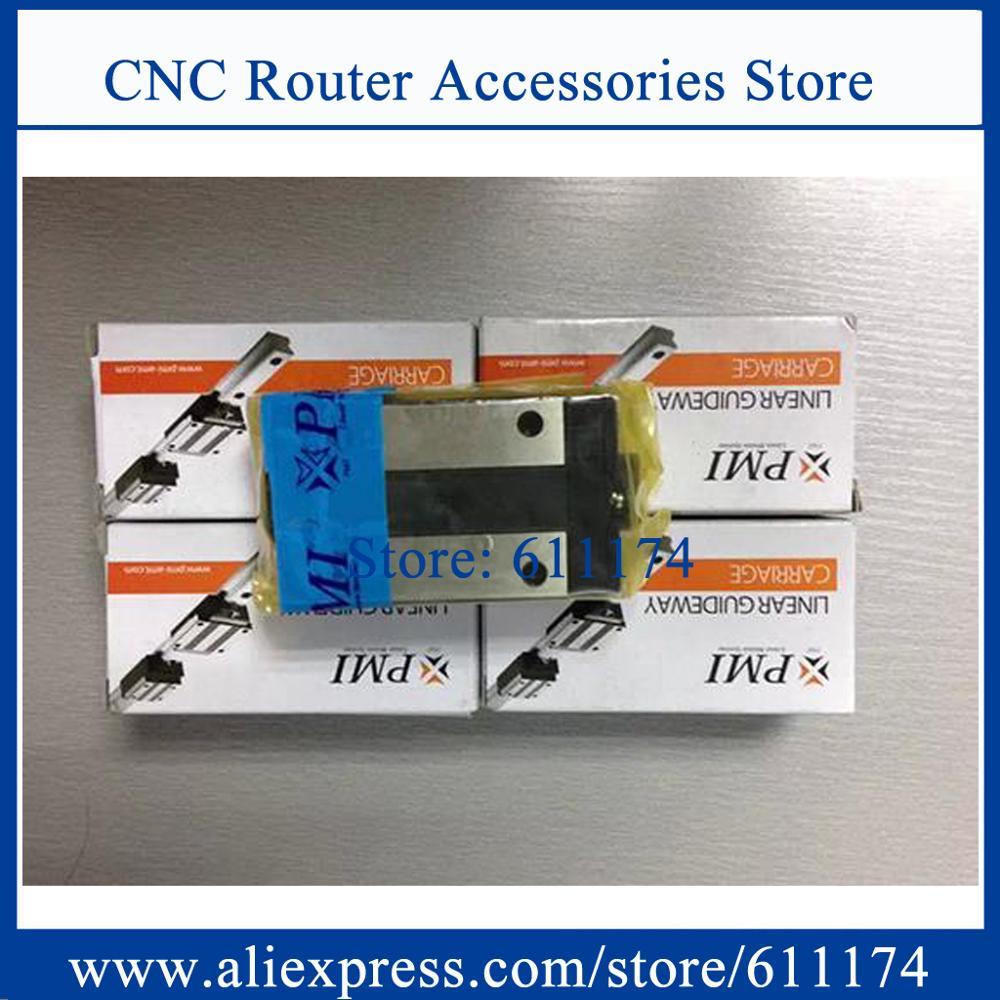 Taiwan PMI Linear guide rail MSB15S L-1380mm + 1pcs MSB15S-N Linear guide bearings