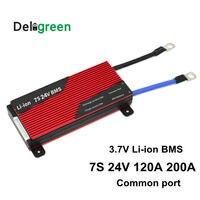 7S 120A 150A 200A 250A 24V PCM/PCB/BMS 3.7V LiNCM 배터리 팩 18650 Lithion 리튬 이온 리튬 배터리 (밸런스 포함) Deligreen