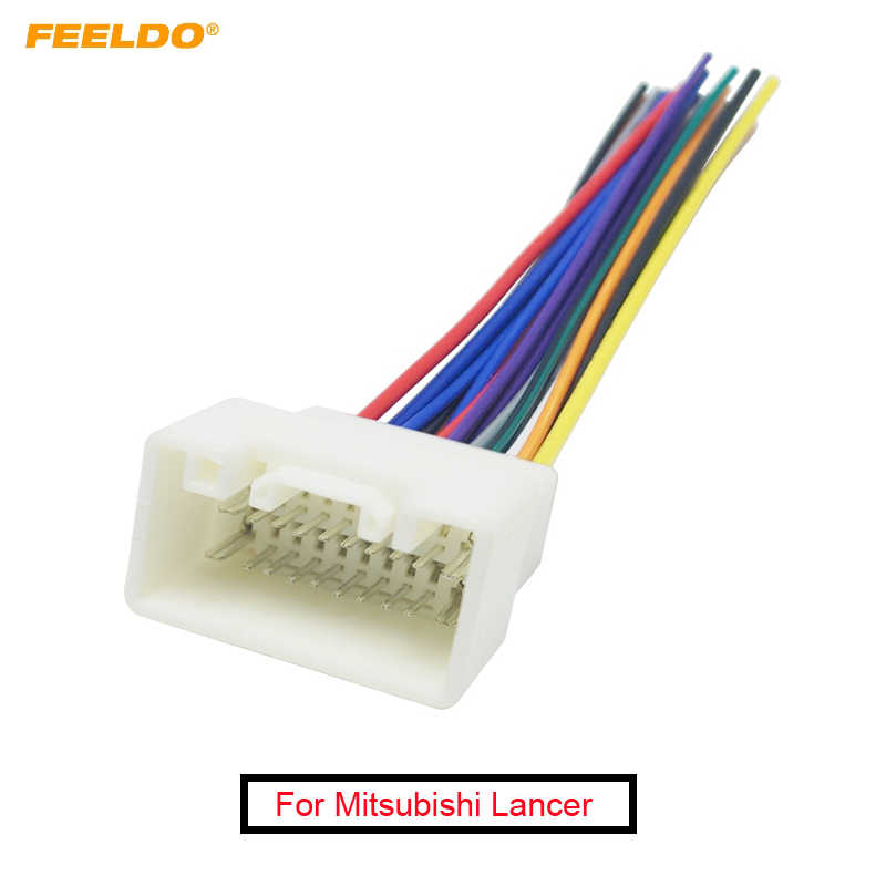 FEELDO 1PC CAR RADIO STEREO WIRING HARNESS ADAPTER For MITSUBISHI LANCER(08~14)/OUTLANDER(07~14)  Aftermarket Installation CD/DVD harness adapter wiring harness  adapterstereo wiring harness - AliExpressAliExpress