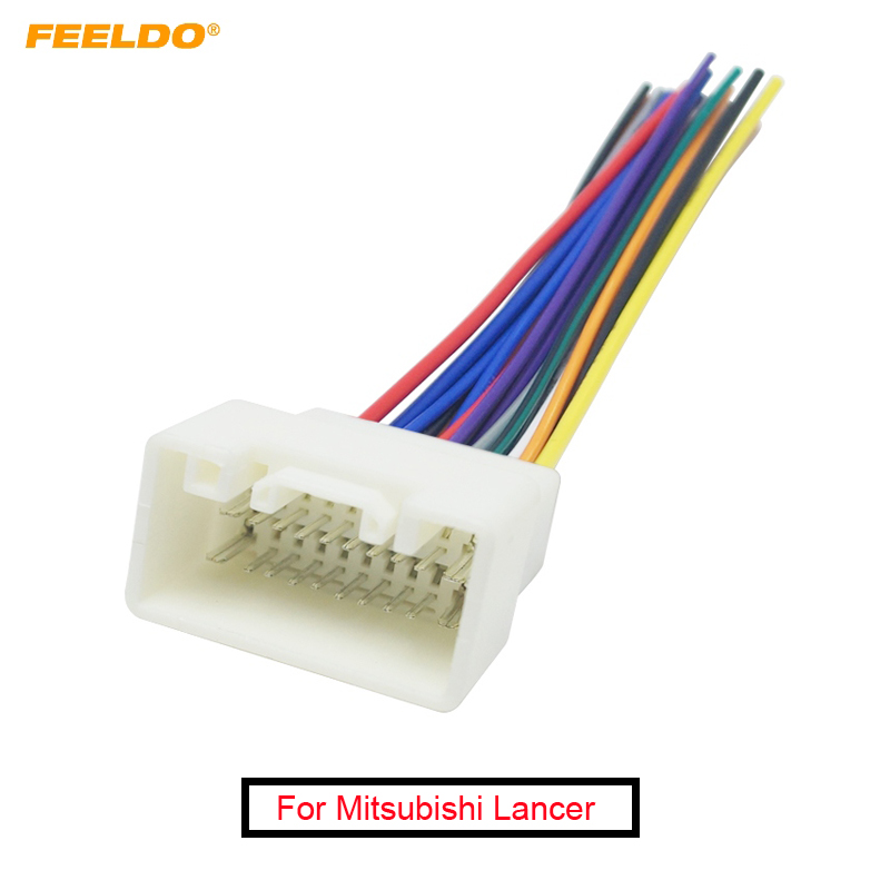 FEELDO 1PC CAR RADIO STEREO WIRING HARNESS ADAPTER For MITSUBISHI LANCER(08~14)/OUTLANDER(07~14) Aftermarket Installation CD/DVD