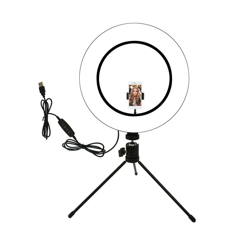 Makeup Vanity Mirror Light USB Power Dimmable Selfie Light Ring Novelty LED Lamp For Photography Live Video Beauty Fill Light
