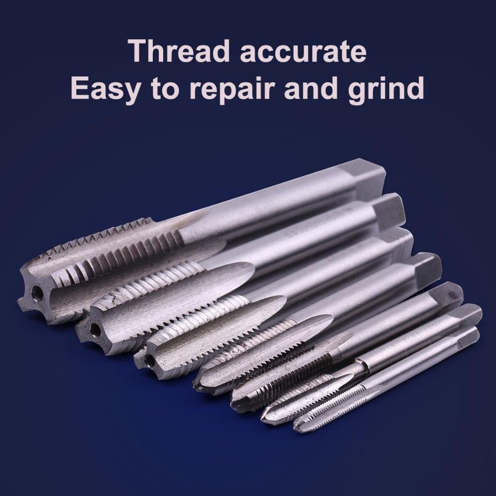 HSS Metric Left-hand Machine Straight Flute Screw Thread Plug Tap Bit M3-M10