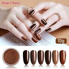 6 caixa/conjunto marrom tan caqui flaxen cor de café série dip pó prego kit mergulho em pó como prego gel naill polonês efeito