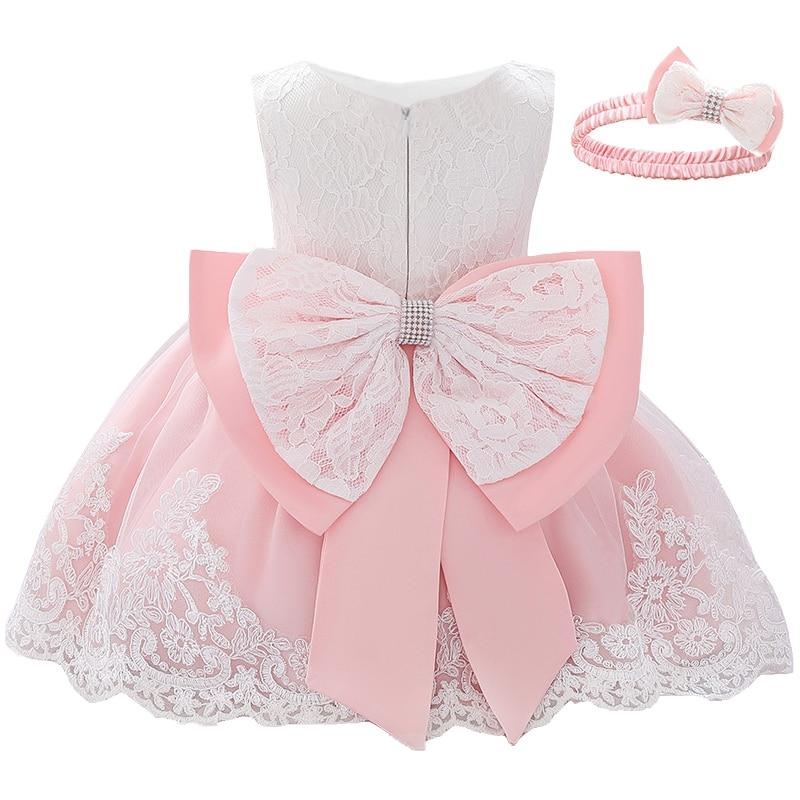 2020 White Dress Newborn 1st Birthdays Dress For Baby Girl Dresses Party And Weding Girl Clothes Baptism Princess Tutu Dress