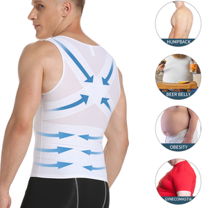 Image 3 - Mens Slimming Body Shaper Gynecomastia Compression Shirts Tummy Control Shapewear Chest Abs Slim Vest Waist Trainer Male Corset