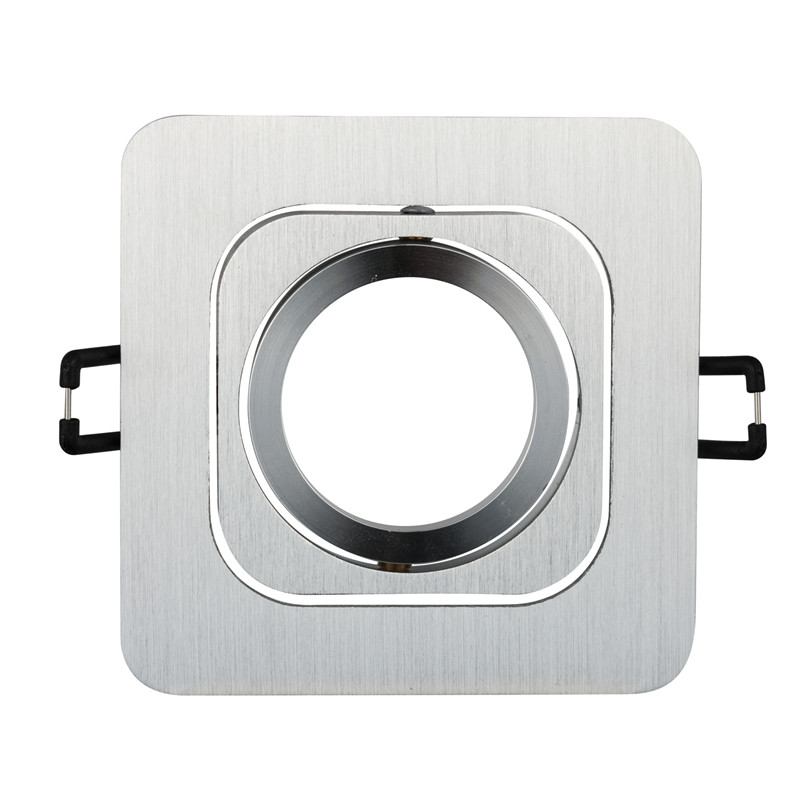2pcs Square Mounting recessed led Ceiling light GU10 MR16 Fitting fixtures Lamp Holders Spot Downlights LED Spot light Frame image