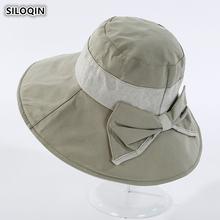 Siloqin складная Женская кепка летняя новая Панама большой солнцезащитный