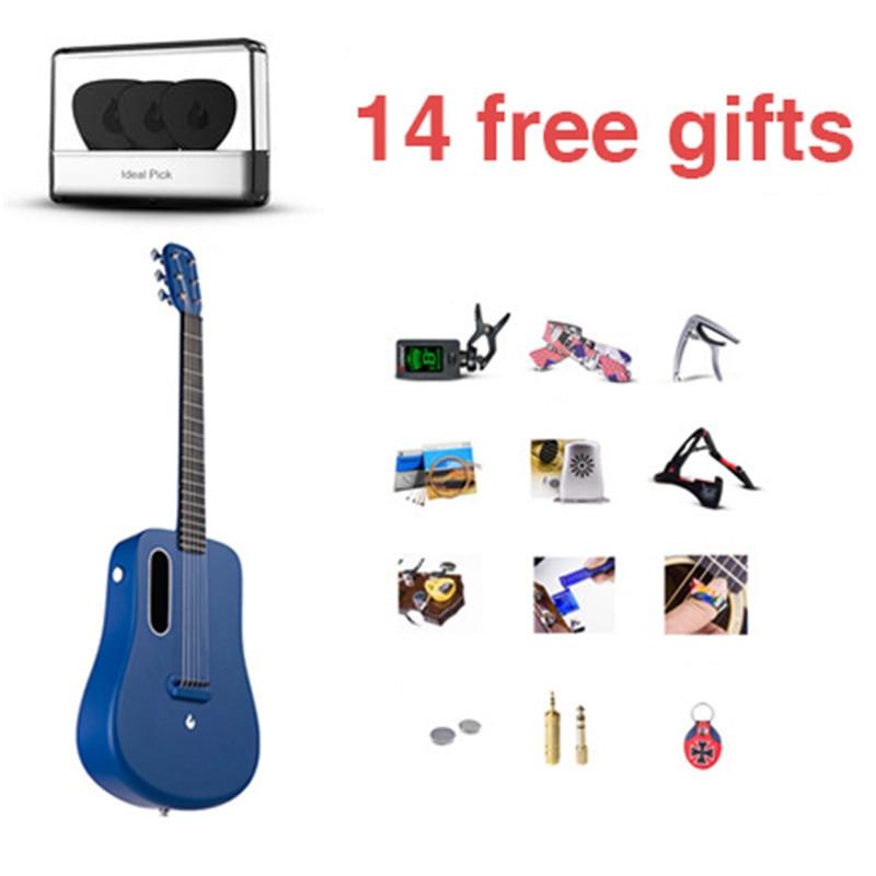 New Era Electronic Guitar 36 Inch 1.65kg LAVA ME 2 Ballad Carbon Fiber Guitar Unisex Beginners Students Practice Show Guitar