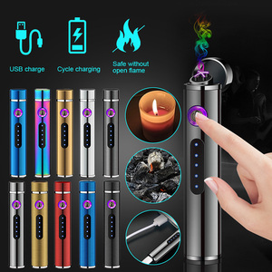Nuevos accesorios, Mini encendedor de Plasma de doble arco, encendedor eléctrico de cilindro, encendedor de cigarrillo, mecheros recargable USB, fumar a prueba de viento