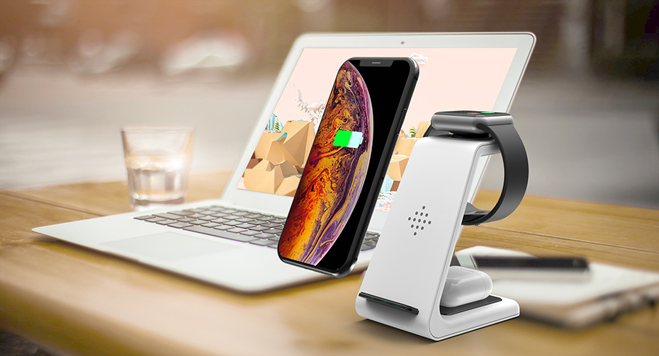 Bonola White 3 in 1 Fast Wireless Charging Stand  (8)