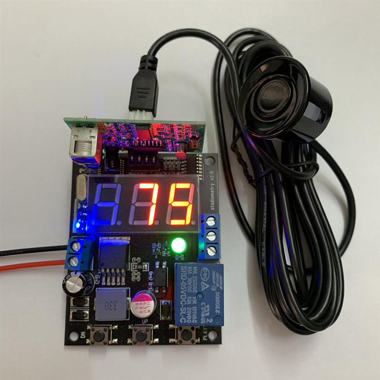 Ultrasonic Sensor Non-contact Control High And Low Level Switch / Display Digital Relay Output