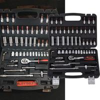 53Pcs Hand Wrench Too Set 1/4 inch Socket Ratchet Auto Repair Tool Case 6, 7, 8, 10, 12, 13, 14 mm.