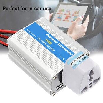 Inversor de corriente portátil para coche de alta frecuencia 100W DC 12V a AC 220V convertidor de cargador de aleación de aluminio con puertos USB y Oulets