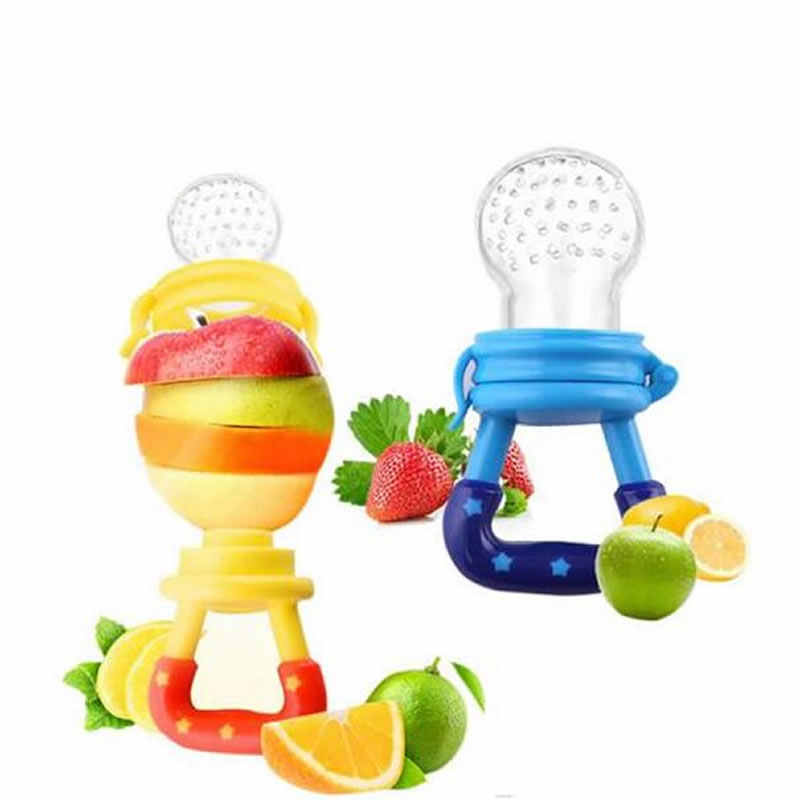 Baby Bottle Feeding Fruit Vegetable Music Newborn Food Supplement Bite Juice Feeder Baby Nimbler Pacifier For Fruit Portable