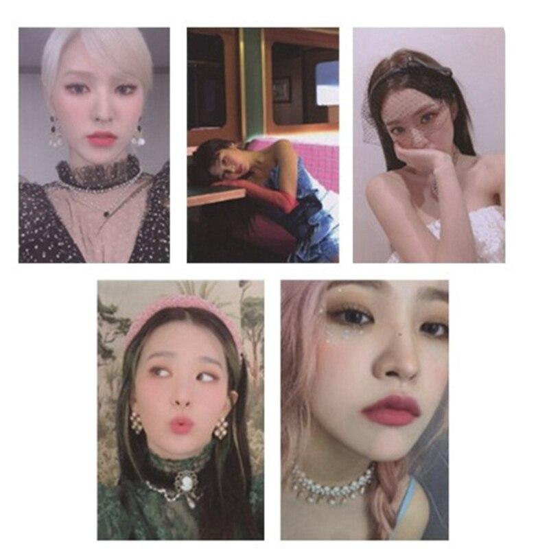 10Pcs/set KPOP Red Velvet The ReVe Festival Finale Album HD Photo Card PVC Cards Self Made LOMO Card Photocard