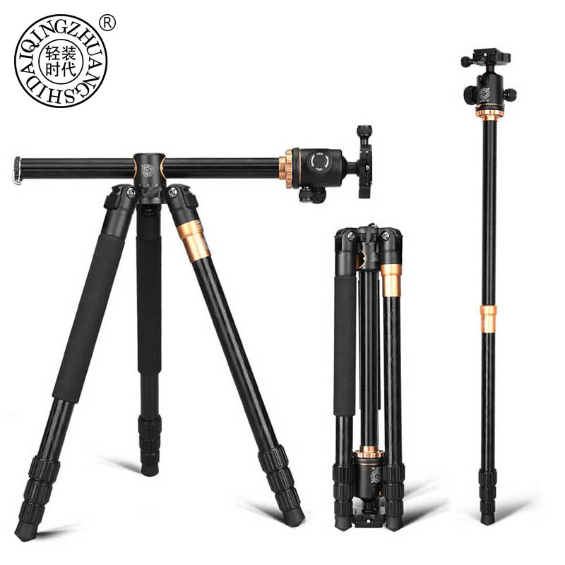 QZSD Q999H Aluminium Alloy Camera Tripod Video Monopod Professional Extendable Tripod with Quick Release Plate and Ball Head image
