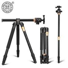 QZSD Q999H statyw kamery ze stopu Aluminium wideo Monopod profesjonalny wysuwany statyw z płyta szybkiego uwalniania i głowica kulowa