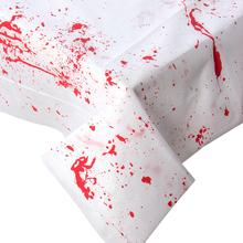 1pc Spoof Bloody Cloth Tablecloth Floor Wall Window Halloween Decoration Plastic Party Supplies Funny Decorations