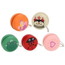 Yoyo-Toys Wooden Yo Yo Kids Animal Creative for Children Prints Cute
