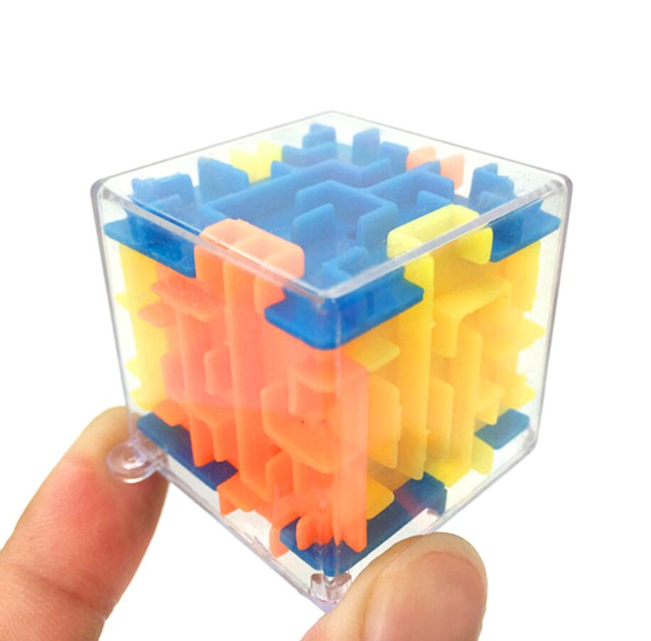 Baby Toys 3D Puzzle Toys Maze Ball Cube Hand Game Case Box Fun Brain Game Challenge Toys Balance Educational Toys For Children