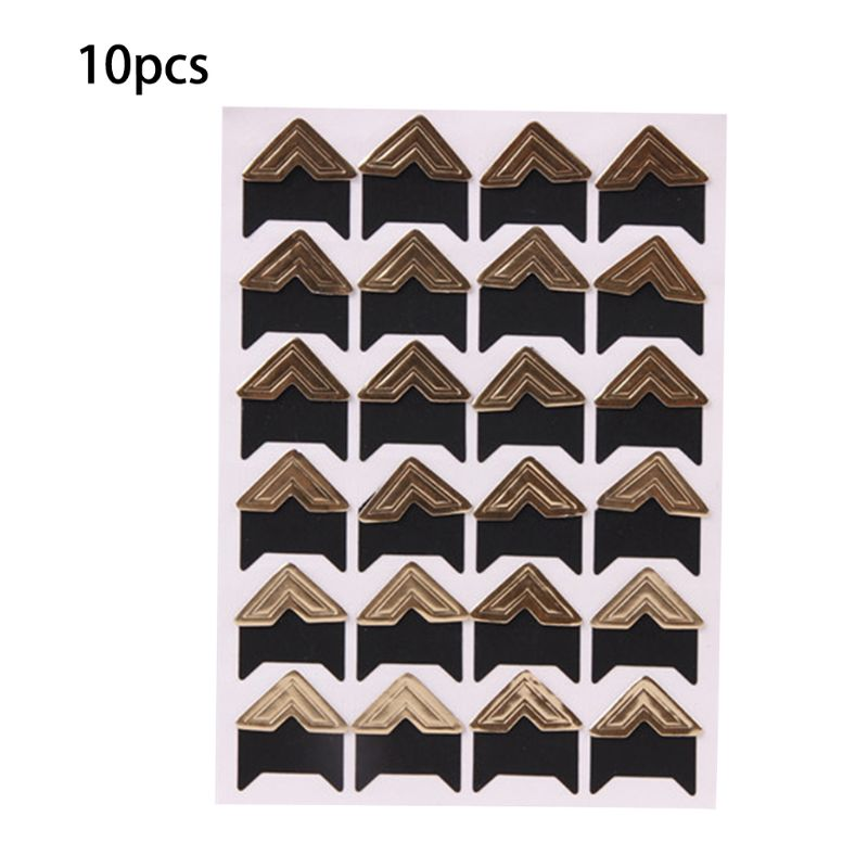 10 Sheets Photo Corners Self Adhesive Stickers, Photo Mounting Paper Corner Stickers For DIY Scrapbook Albums X6HB