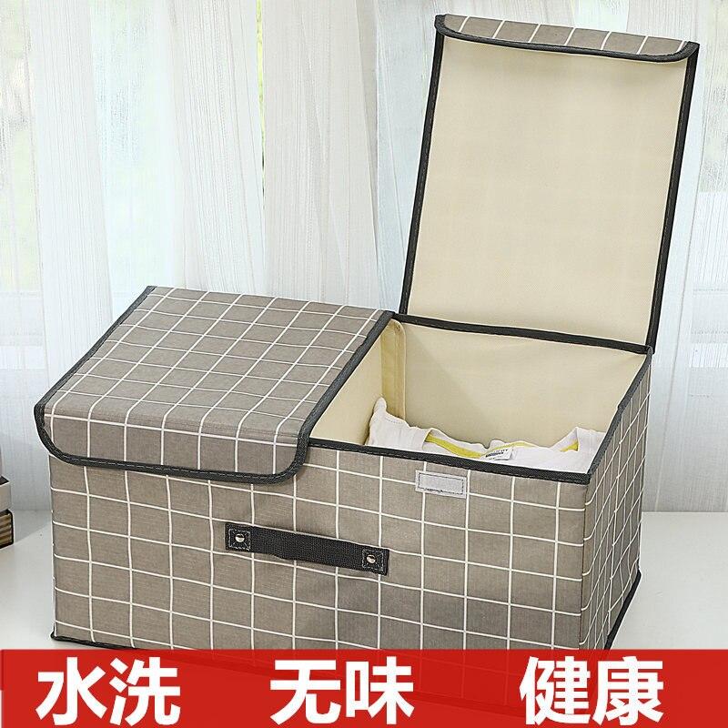 Oxford Cloth-Washing Clothes Storage Box Fabric Folding Underwear Knicker Storage Box Clothes Compartmental Storage Box