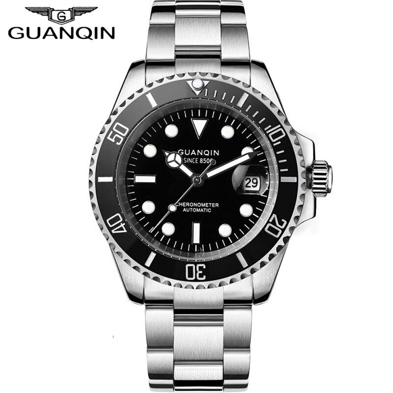 GUANQIN Japan Movement Mechanical Watch Steeldive Watch Sapphire 100m Waterproof Automatic Men Sport Ceramics reloj hombre(China)